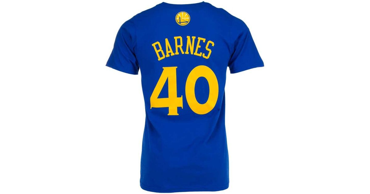 579526ff3 Lyst - adidas Originals Men s Short-sleeve Harrison Barnes Golden State  Warriors Player T-shirt in Blue for Men
