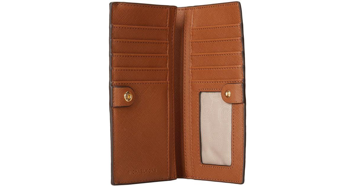 82274b4c0509 MICHAEL Michael Kors Jet Set Travel Lg Slim Wallet in White - Lyst