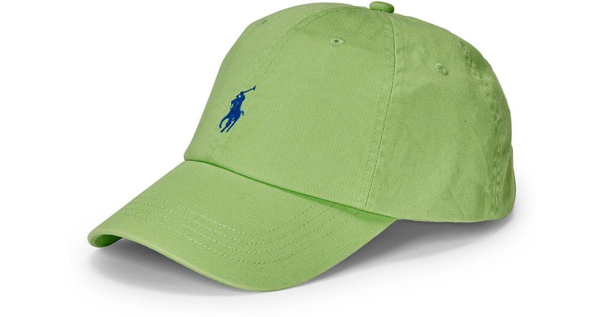 fbdba796525 Lyst - Polo Ralph Lauren Cotton Chino Baseball Cap in Green for Men