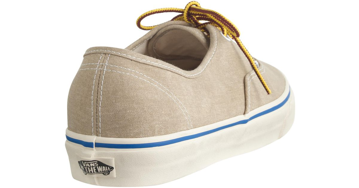 48c99c84a33a08 Lyst - J.Crew Vans Washed Canvas Authentic Sneakers in Natural for Men