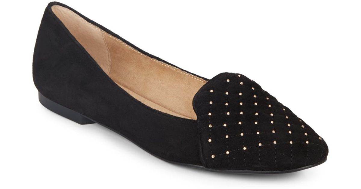 d471f8ca5ce Lyst - BCBGeneration Harold Studded Suede Flats in Black