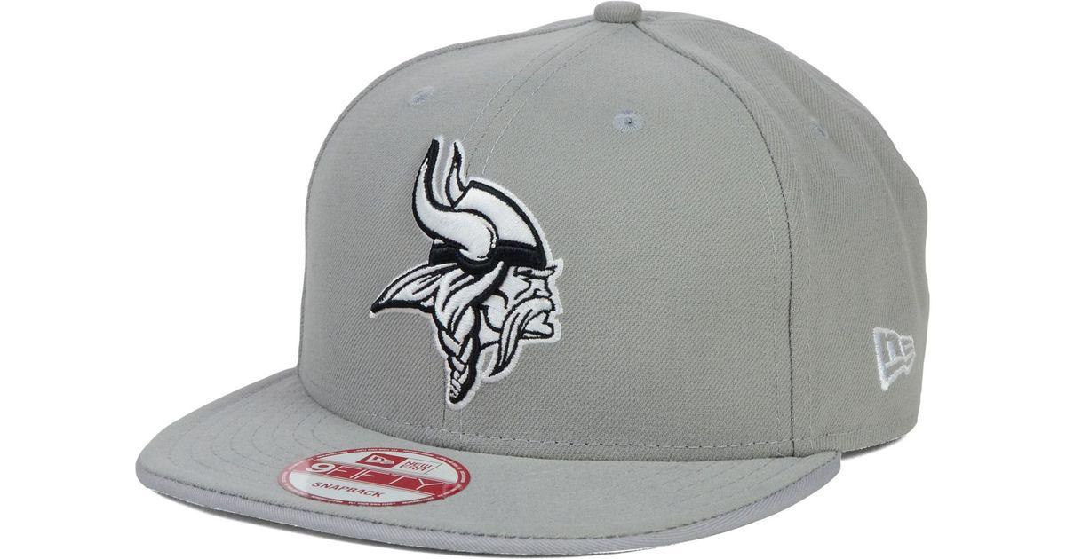 best website 4954b ba114 where to buy lyst ktz minnesota vikings gray black white 9fifty snapback  cap in gray for