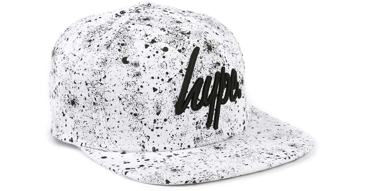 aff3fb61890 Lyst - TOPMAN Hype Black And White Speckle Snapback Cap  in Black for Men
