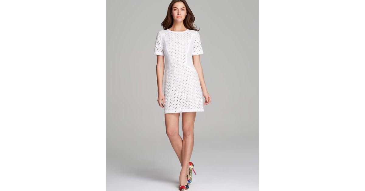 Trina turk Dress - Marquise Circle Eyelet in White  Lyst