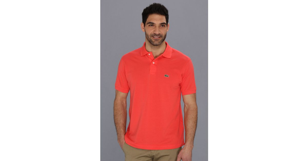 194e7823ba86 Lyst - Lacoste L1212 Classic Pique Polo Shirt in Pink for Men