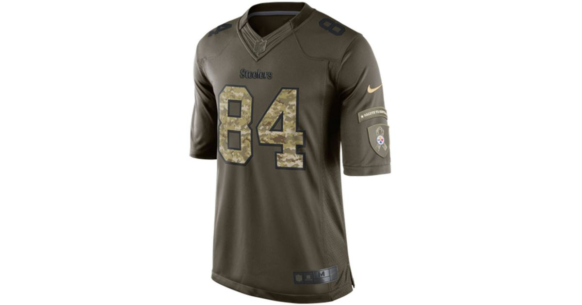 best loved 9af8c b2783 Nike Green Men's Antonio Brown Pittsburgh Steelers Salute To Service Jersey  for men