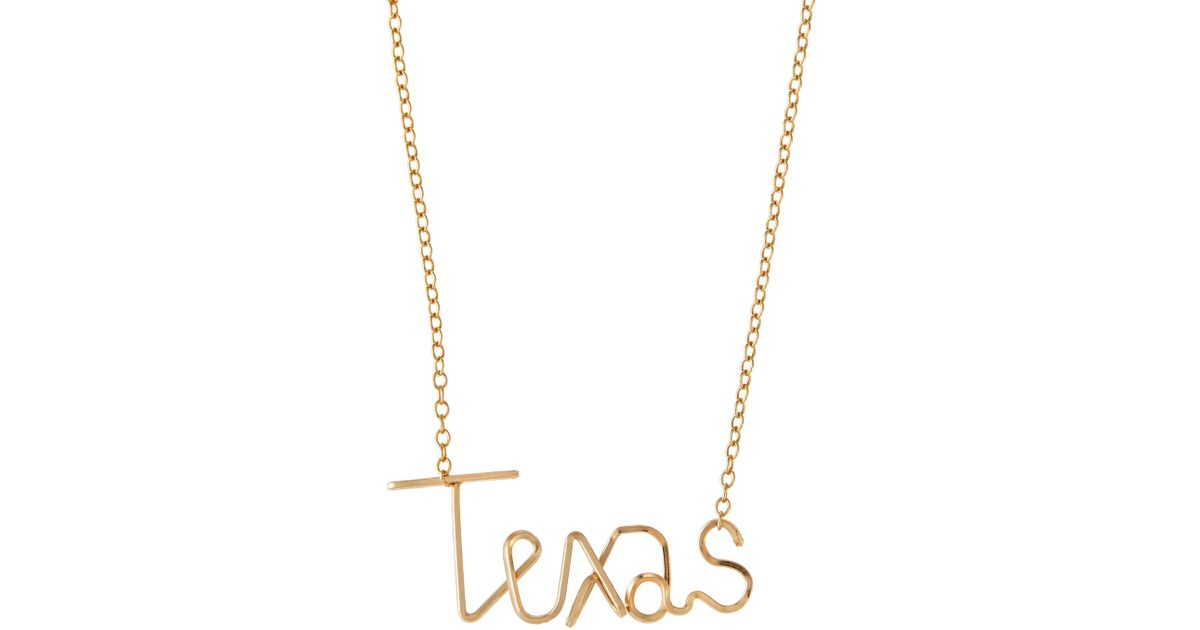 Lyst by philippe 14 karat gold fill texas charm necklace in metallic mozeypictures Images