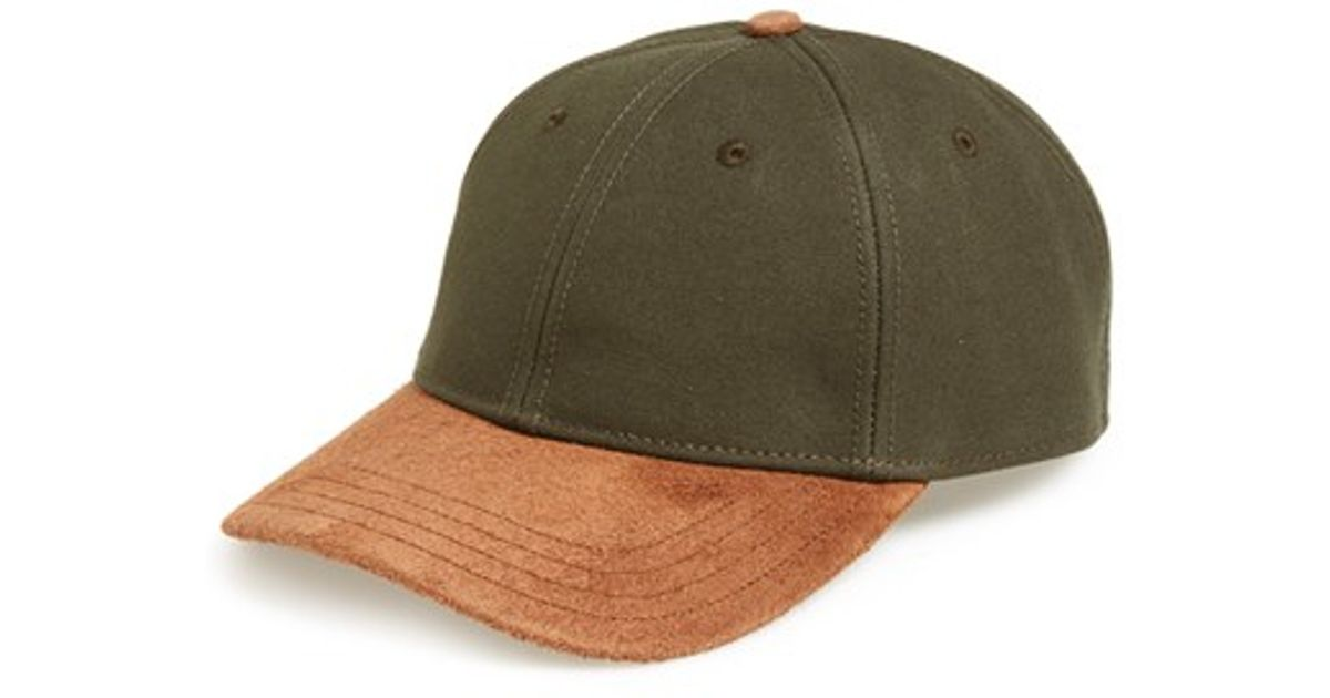 8be8b746ecde Rag & Bone Suede Brim Baseball Cap in Brown for Men - Lyst