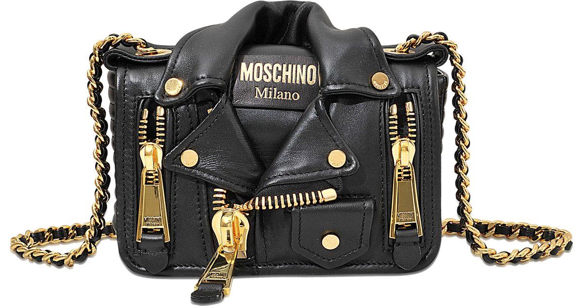 9aa49c75ba5 Moschino Small Biker Bag in Black - Lyst