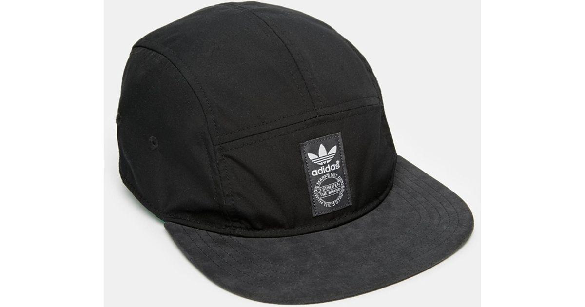 b97a7bbd6a711 ... new arrivals lyst adidas 5 panel snapback cap in black for men a337c  8530d