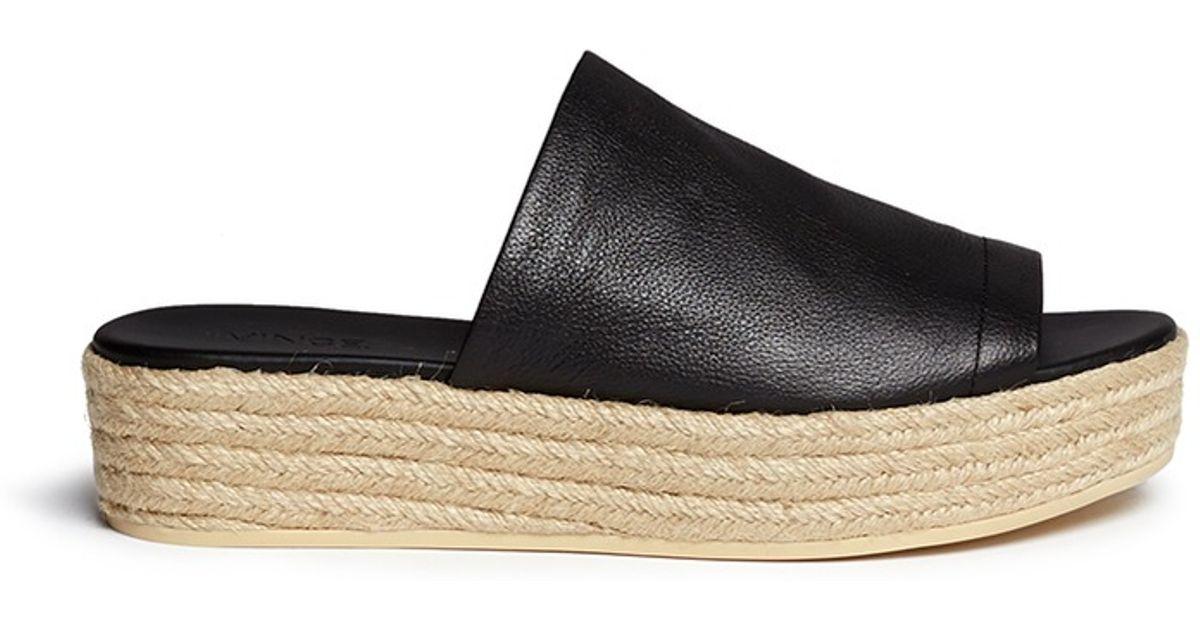 2d30af282a81 Lyst - Vince  solana  Leather Espadrille Sandals in Black