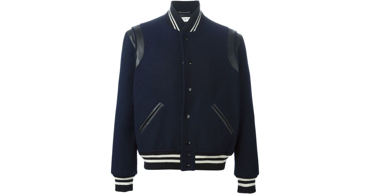 ffe069328e1 Saint Laurent Classic Teddy Jacket in Blue for Men - Lyst