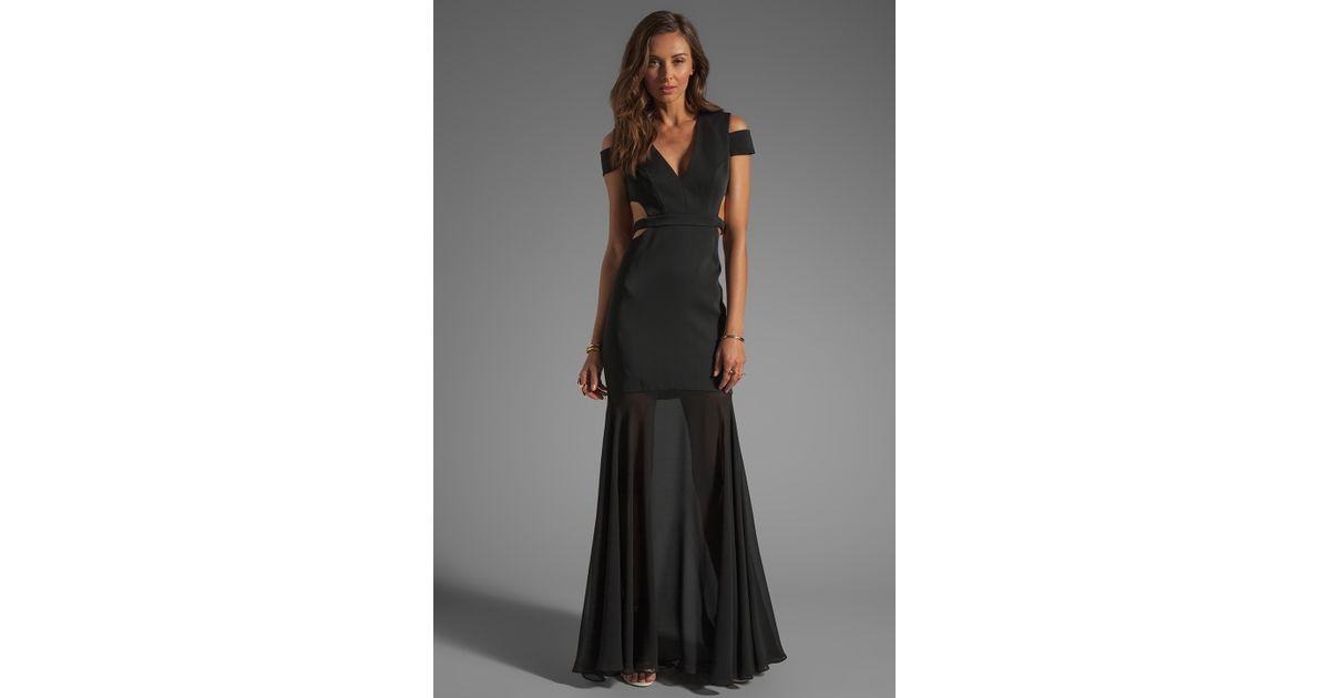 Bcbgmaxazria black maxi dress