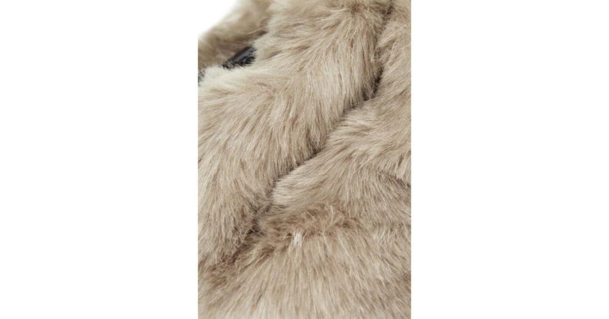 Topshop Faux Fur Duffle Bag in Natural - Lyst 7931588988a3d