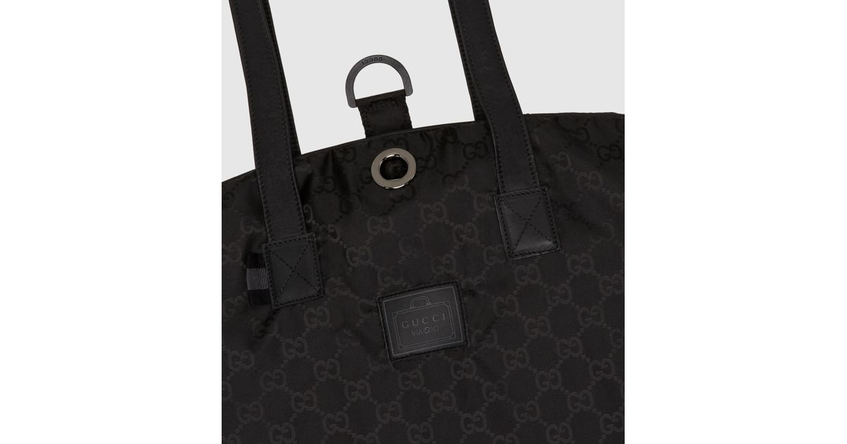 7814eb1d9e Gucci Black Gg Nylon Garment Bag From Viaggio Collection for men