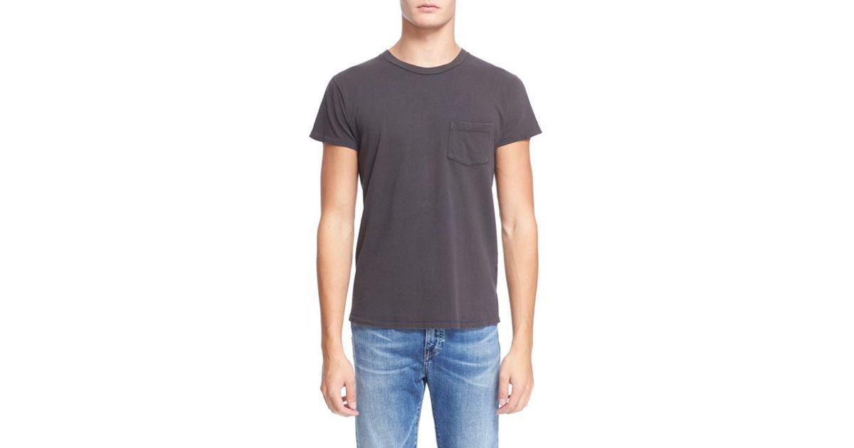 Levi 39 s levi 39 s vintage clothing 39 1950s 39 pocket t shirt in for Mens black levi shirt