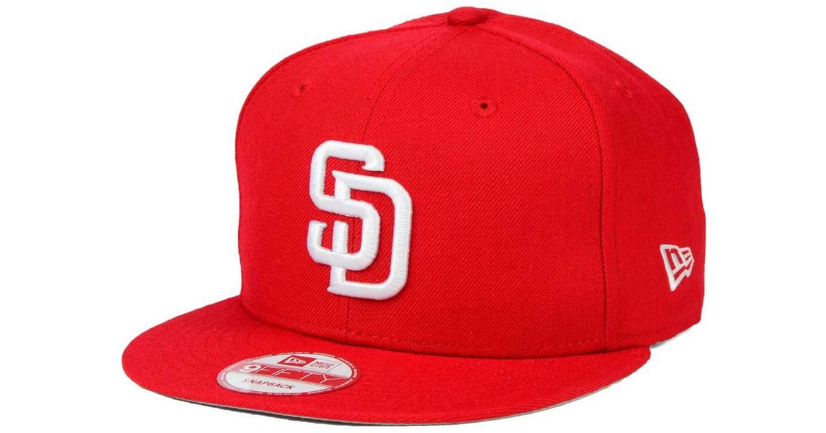 8cffebd5d7f ... coupon for lyst ktz san diego padres c dub 9fifty snapback cap in red  e6f39 98b57