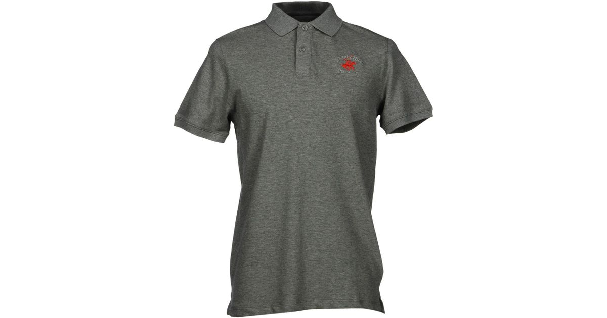 Beverly Hills Polo Club Polo Shirt In Gray For Men Lyst