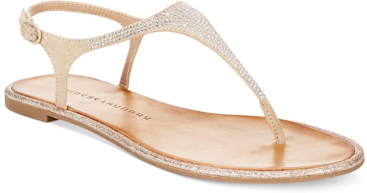 Chinese Flat Lyst Thong Sandals Glam Rock In Natural Laundry 8nv0wmN