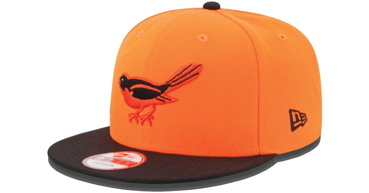 buy online 3334a c0a33 ... low price lyst ktz baltimore orioles all star patch 9fifty snapback cap  in orange for men