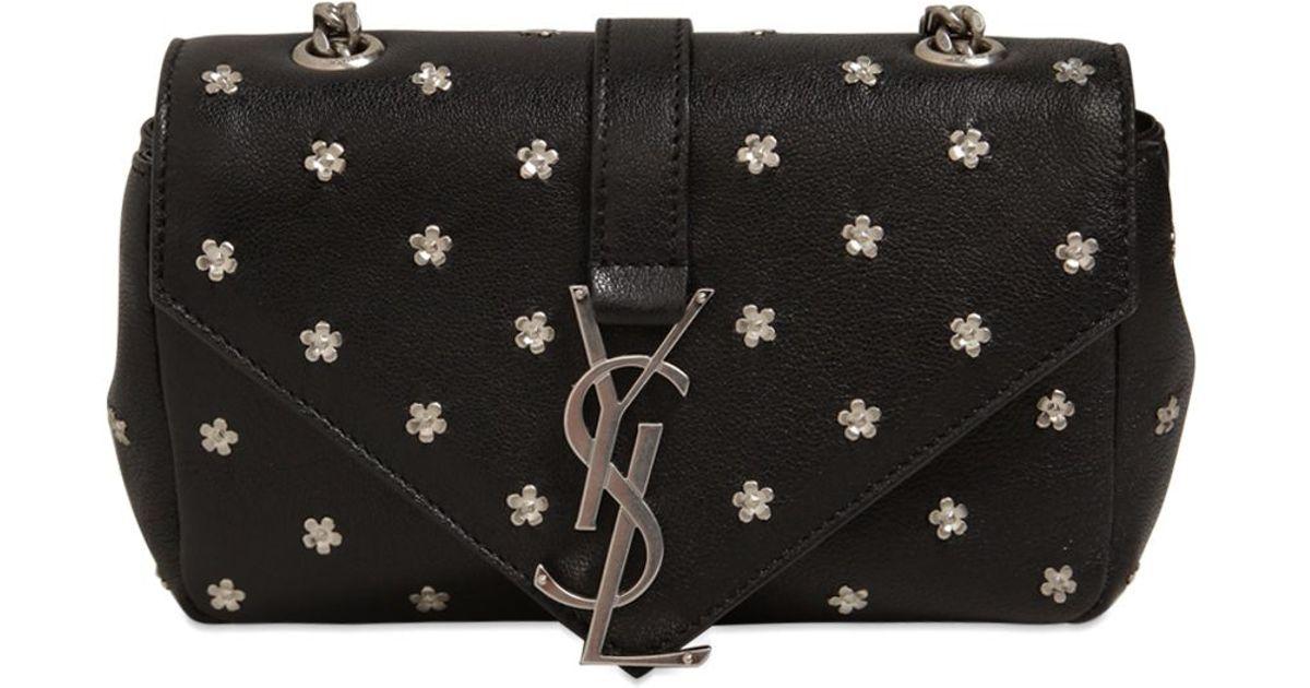 flower buckle shoulder bag - Black Saint Laurent KEuMgs3