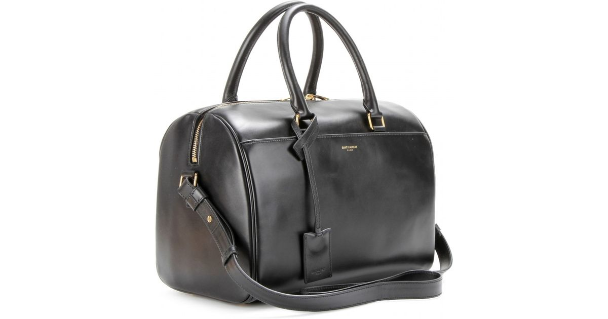 Saint Lau Gray Duffle 6 Leather Bowling Bag