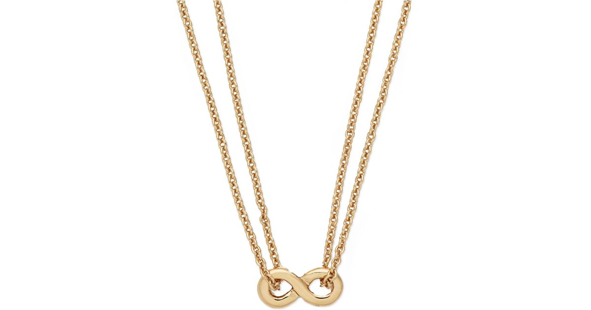 Kate Spade New York Gold Infinity Pendant Necklace Gold F8IOJ