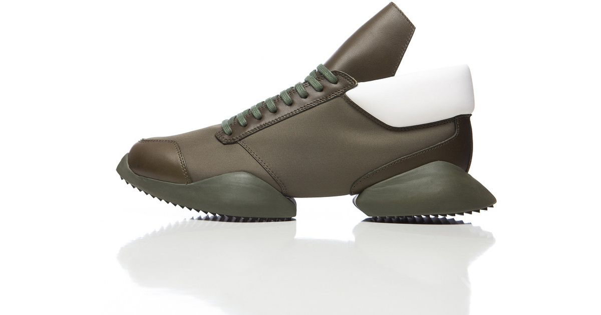 b1bab36abd65 Lyst - Rick Owens Runner Low-Top Sneakers in Green for Men