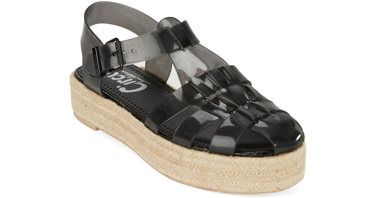 de7fb45b0111c Lyst - Circus By Sam Edelman Gotham Jelly And Espadrilles Flatform Sandals  in Black