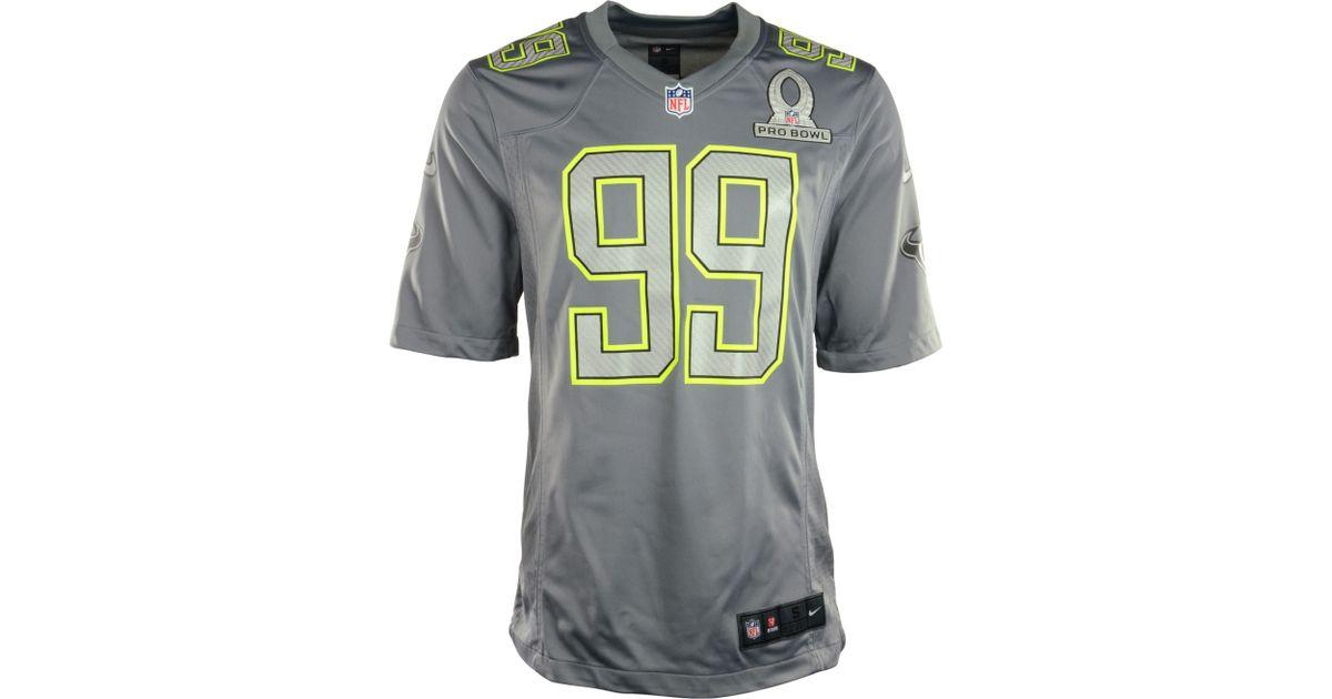 size 40 0634a 432fb Nike Gray Jj Watt Houston Texans Pro Bowl Jersey for men