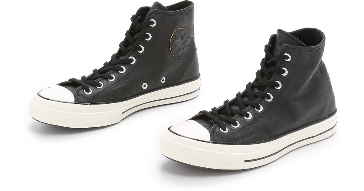Converse Chuck Taylor All Star  70s Leather High Top Sneakers in Black for  Men - Lyst 6dabbdde52abe