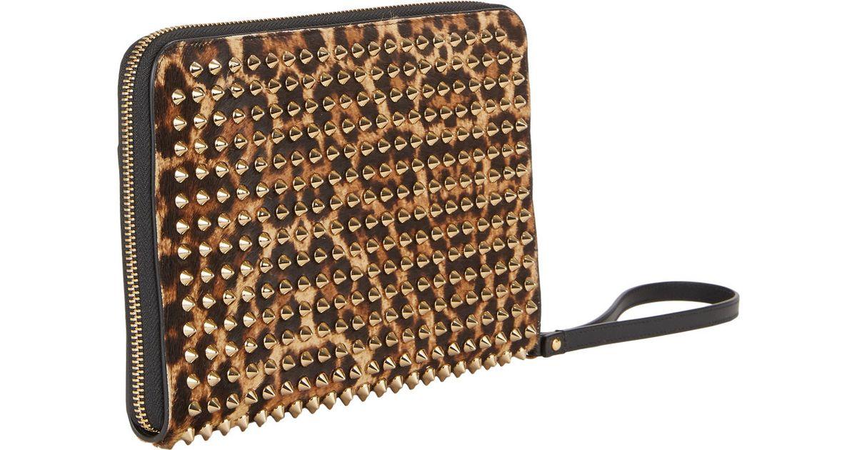 180cab59de5 Christian Louboutin Multicolor Spiked Leopardpattern Ipad Mini Case