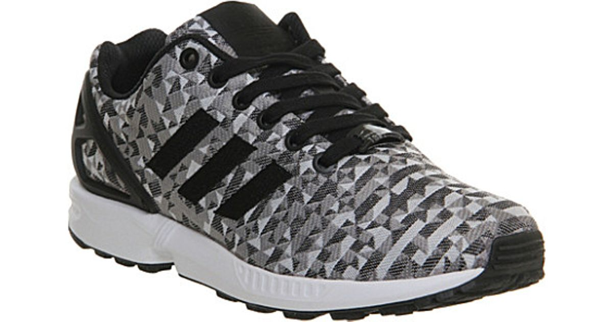watch 93cec faa1c Adidas White Zx Flux Patterned Trainers - For Men for men