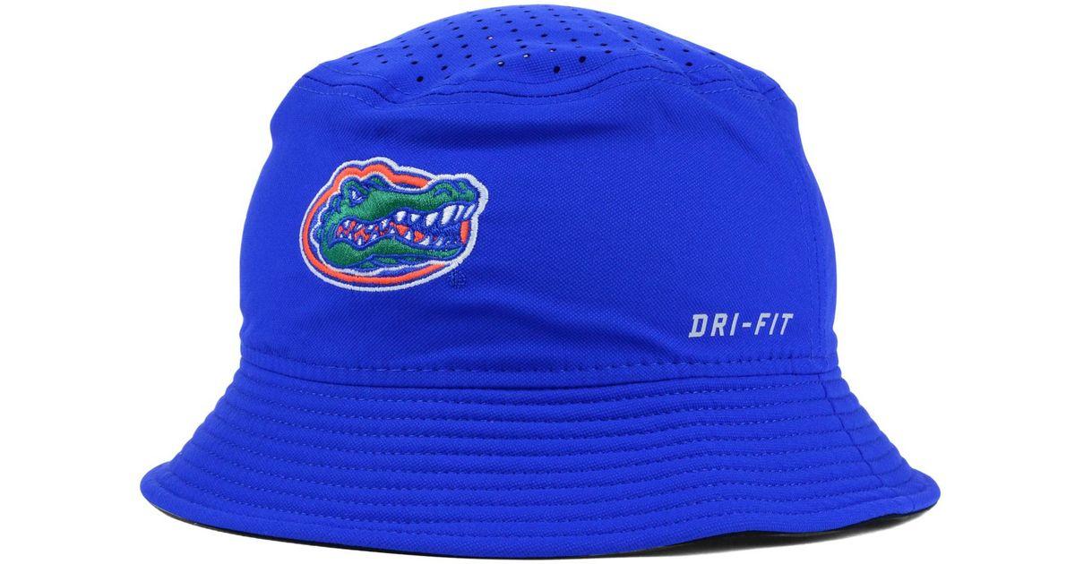 ae4df685ae7 ... new arrivals lyst nike florida gators vapor bucket hat in blue for men  9edd6 dfd79