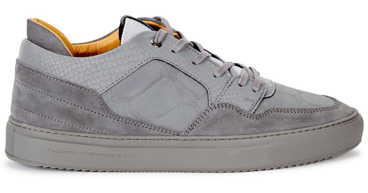 c810c34e08ff Android Homme Omega Grey Reflective Leather Trainers in Gray for Men - Lyst