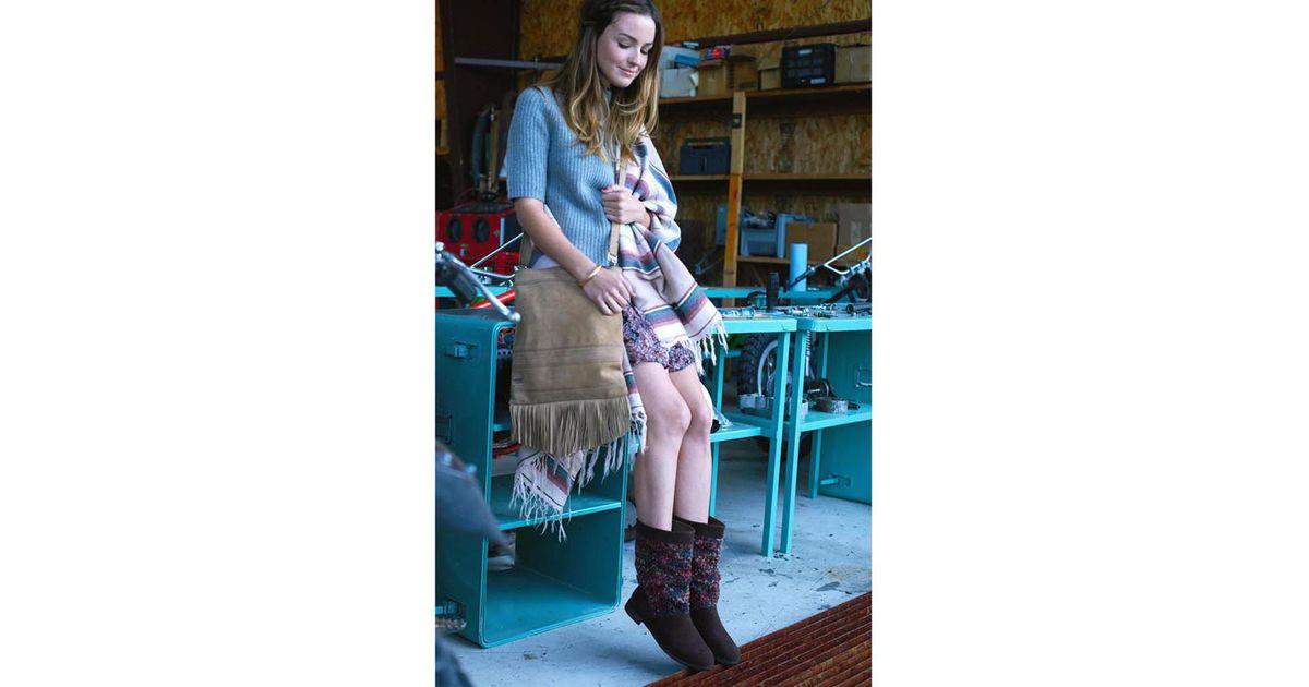 TOMS Dark Brown Suede Textile Women's