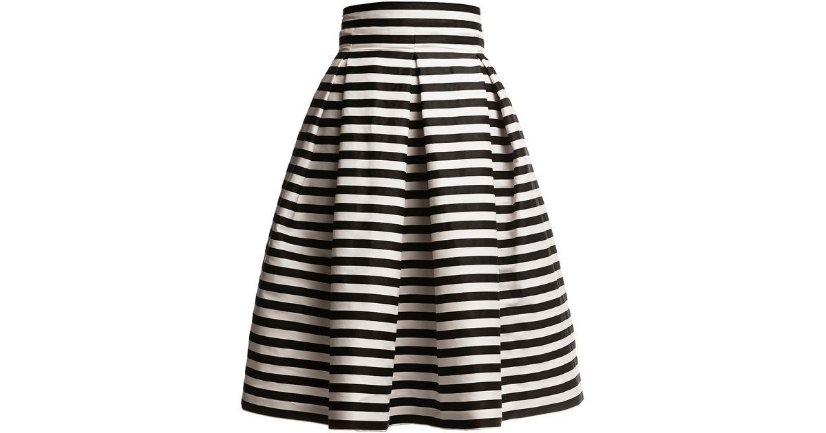 93eb084ab9 Lyst - Rumour London Amalfi Striped Midi Skirt in Black