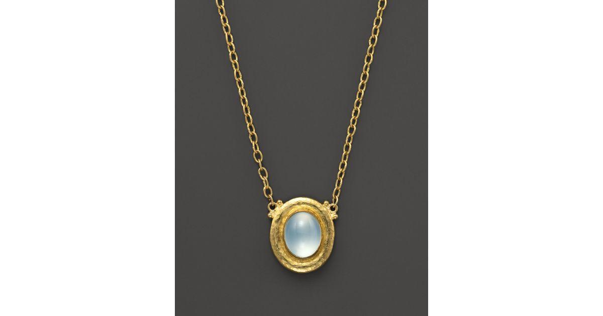 Gurhan Muse Chalcedony Pendant Necklace, Blue