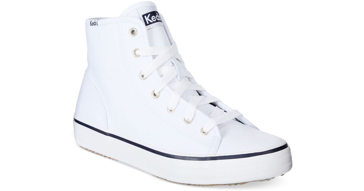 e97c937dc53ea Lyst - Keds Women S Double Up High Top Sneakers in White