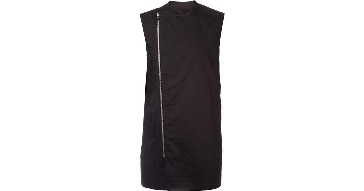 4604f6184bee79 Lyst - Rick Owens Vicious Biker Shirt in Black for Men