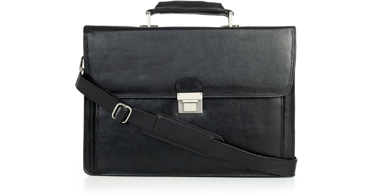 Kenneth cole New York Leather Slim Document Case in Black for Men ...