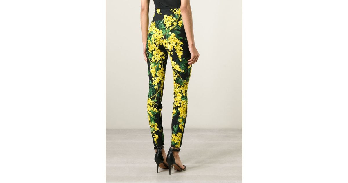 floral print cropped flare trousers - Green Dolce & Gabbana Inexpensive Sale Online Low Cost Online Clearance 2jmSe