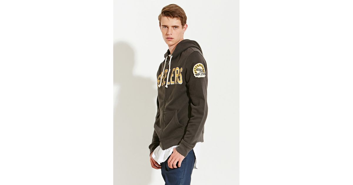 new arrival 9540f 7d790 Forever 21 Black Junk Food Nfl Pittsburgh Steelers Hoodie for men