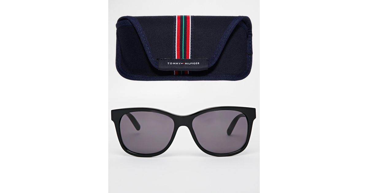 15888412350 Lyst - Tommy Hilfiger Wayfarer Sunglasses in Black for Men