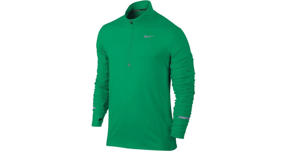 nike shox dames de rose - Nike Men's Element Dri-fit Half-zip Running Shirt in Green for Men ...