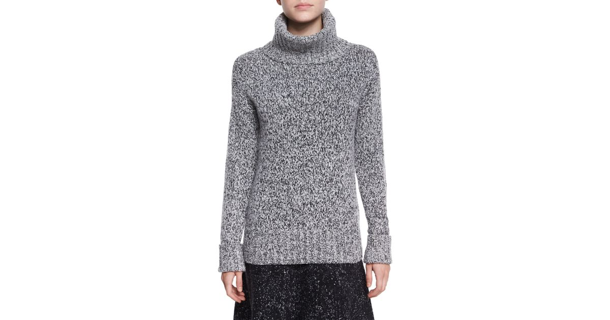 d52e01d22af Theory Wyndora Marbal Wool Sweater in Gray - Lyst