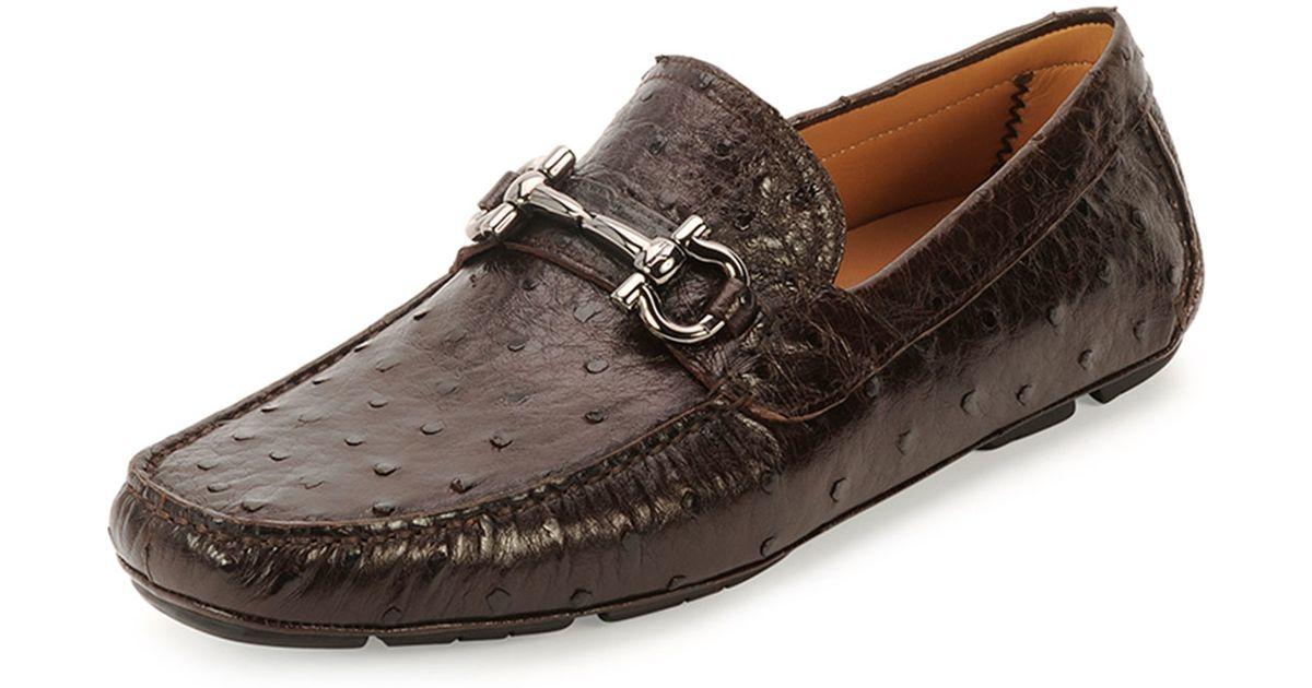 Ferragamo Mens Ostrich Shoes