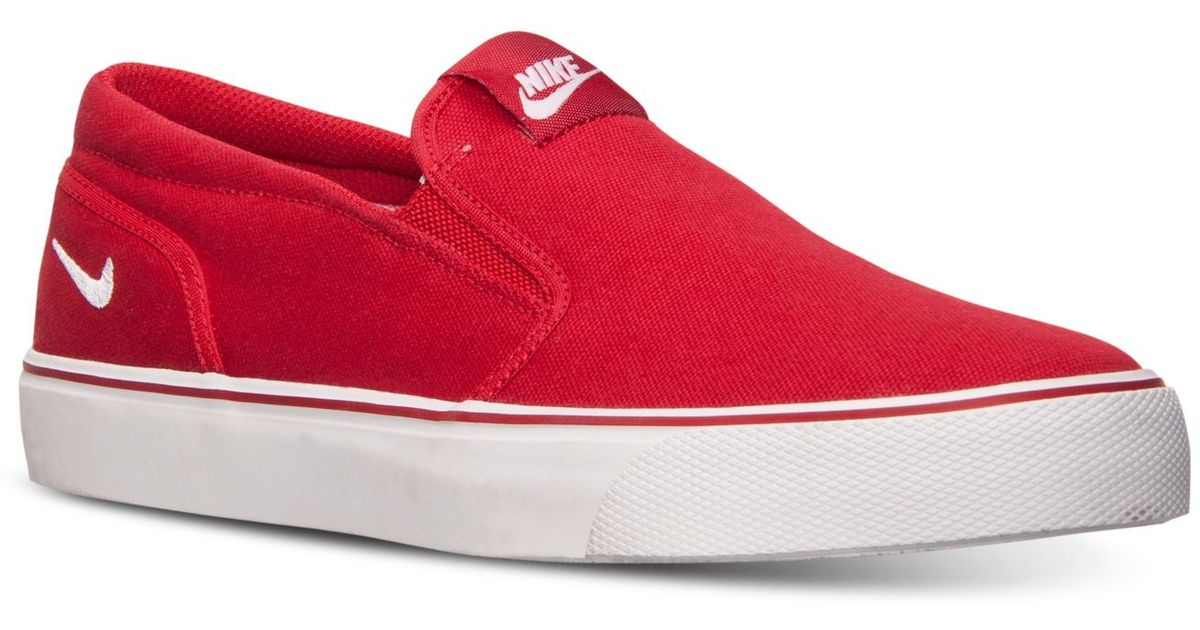 834ec8df126f ... get lyst nike mens toki slip txt casual sneakers from finish line in  red for men