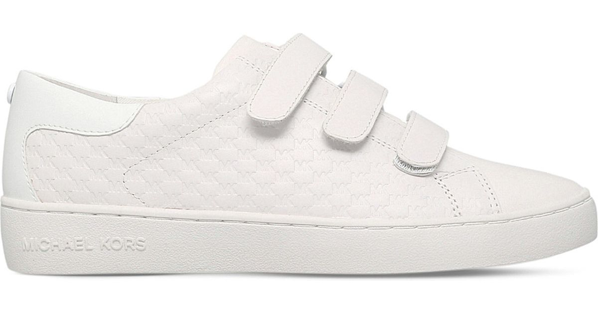 3b00789d26f MICHAEL Michael Kors Craig Leather Trainers in White - Lyst