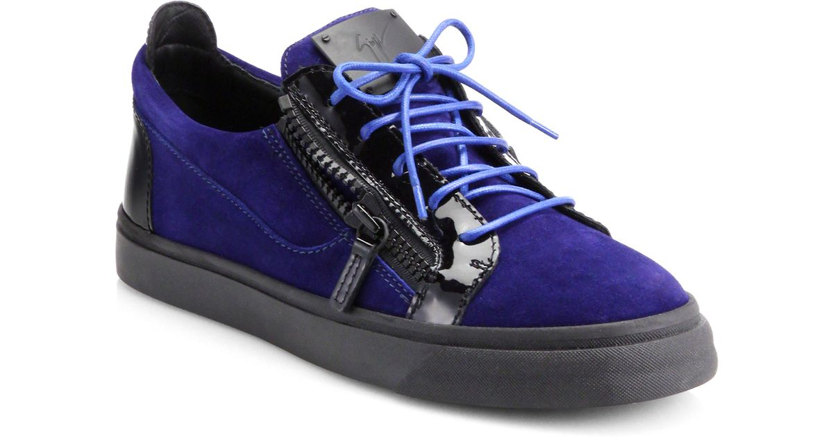 Pantent Leather Low-top Sneakers